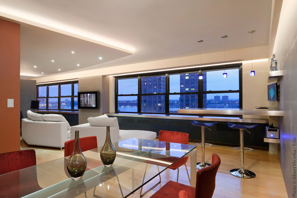 Rosen Residence - a contemporary NYC apartment combination designed by Soluri Architecture