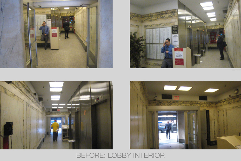 lobby renovation and facade restoration of 303 5th Ave by Soluri Architecture
