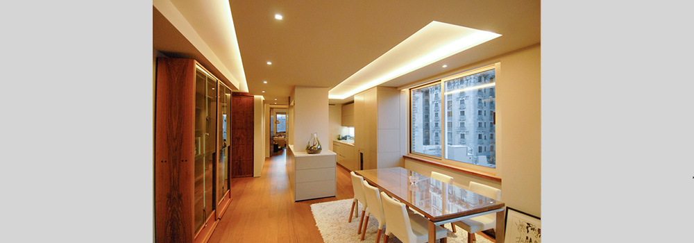 Contemporary renovation of New York 2 bedroom apartment with design by Soluri Architecture - kitchen